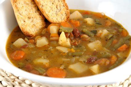 hearty vegetable soup  square