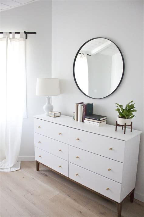 modern white dresser  west elm inspired ikea hack  la