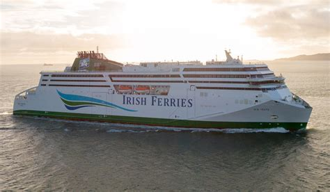 pics  irish ferries flagship wb yeats sails  dublin port