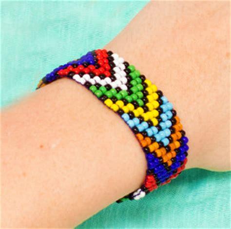 African Bead Loom Bracelet Allfreejewelrymakingcom