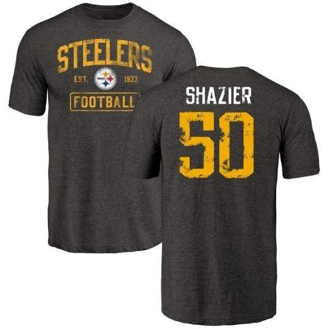 ryan shazier pittsburgh steelers mens black distressed