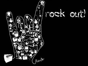 Accessible Novelties: Rock On Music Finger Wallpapers