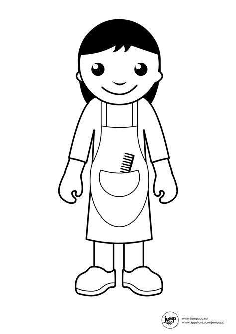 hairdresser printable coloring pages pinterest
