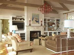 Living room living room with brick fireplace decorating for Living room ideas decorating pictures