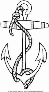 Anchor Rope Coloring Bible sketch template