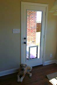 Glass door insert w dog door cabin dreams pinterest for Dog door window insert