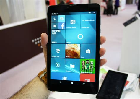 Windows Mobile Tablet by Presentati I Primi Mini Tablet Con Windows 10 Mobile