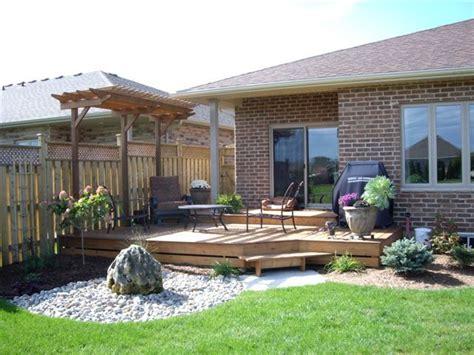 small decks with pergolas deck with small pergola my garden pinterest