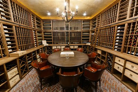 baltusrol golf club custom wine cellar building wine