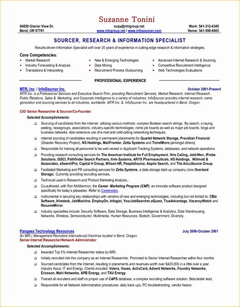 Chronological Resume Doc by 8 An Effective Chronological Resume Sle Free Sles