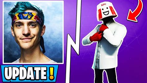 fortnite update ninja stream snipe ban kfc skin