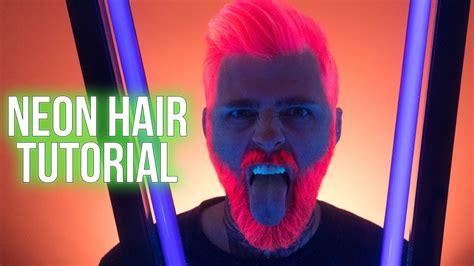 neon pink uv reactive hair color tutorial  arctic fox