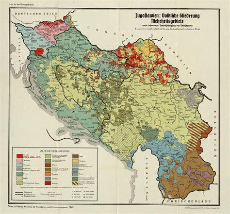 ethnic map  yugoslavia   nazi germany