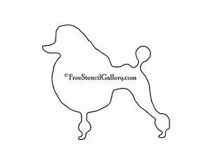 poodle silhouette stencil free stencil gallery With poodle template printable