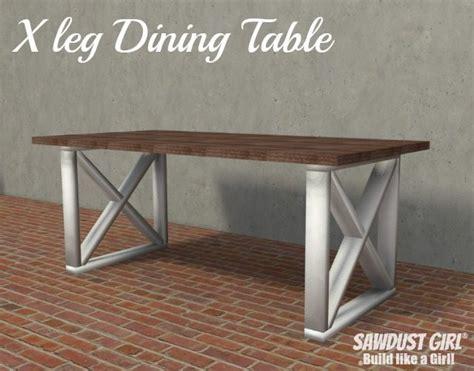 leg dining table sawdust girl