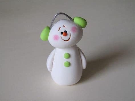 polymer clay christmas snowman ornament snowman polymer