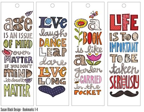childrens wall cool bookmark designs home decor 60291