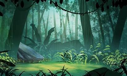 2d Backgrounds Background Jungle Animation Cartoon Anime