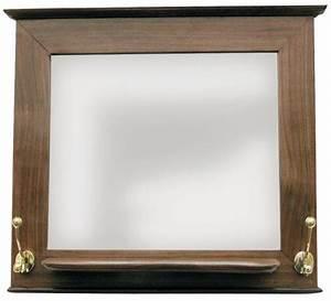 Holz Spiegel Mit Ablage : garderoben spiegel holz mit ablage und 2 messingdoppelhaken 46x40x12cm ~ Indierocktalk.com Haus und Dekorationen