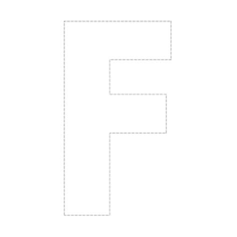 letter f template outline capital f