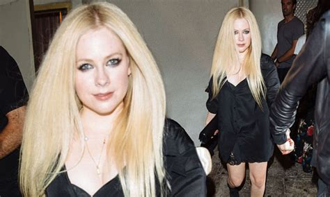 Avril Lavigne makes a rare appearance in West Hollywood