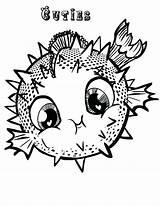 Coloring Fish Puffer Blowfish Porcupine Printable Getcolorings sketch template