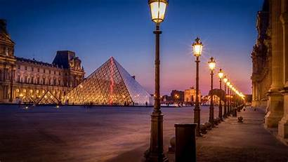 Paris Street Lights Night Avenue Wallpapers Pyramid