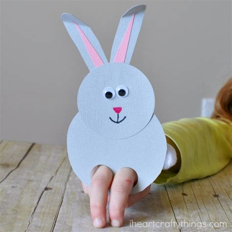 bunny finger puppet craft 2 ted s 347 | bunny finger puppet craft 2