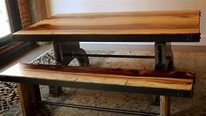 Banc Metal Bois : banc bois exotique tamarin et m tal tamarin exotic wood and metal bench espace mosaik boutique ~ Teatrodelosmanantiales.com Idées de Décoration