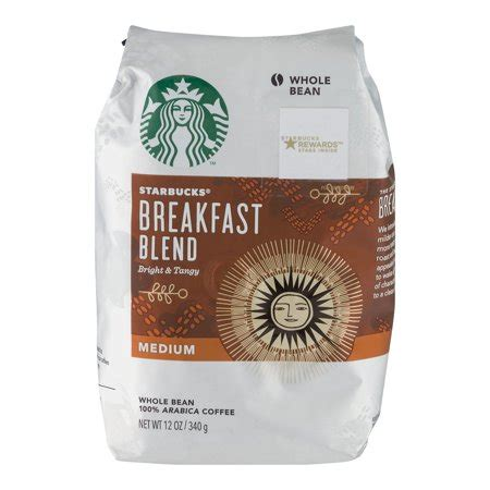 At every step, we go to great lengths to make sure our beans meet the highest standard of quality. Starbucks Medium Roast 100% Arabica Whole Bean Coffee, Breakfast Blend, 12 Oz - Walmart.com