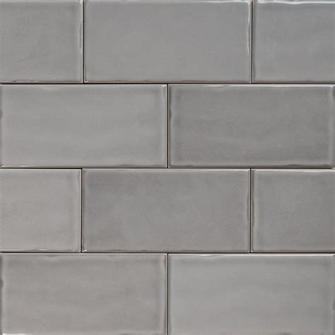 subway pale grey gloss wall tiles  classico textured