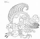 Coloring Thanksgiving Printable Cornucopia Numbers Simple Template Sheets Turkey Cartoon Templates Gcssi sketch template