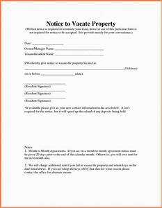 landlord notice to vacate template business With giving tenants notice to vacate letter