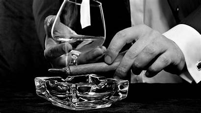 Classy Alcohol Cigars Monochrome Noir Desktop Film