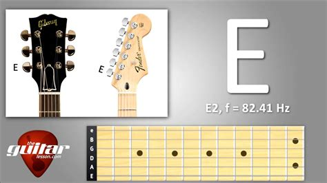 Low E String Standard Guitar Tuning (6th String)