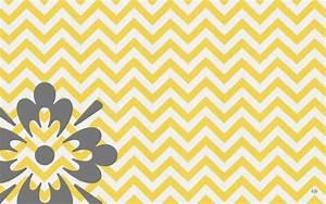 Gallery Yellow Grey Chevron Background