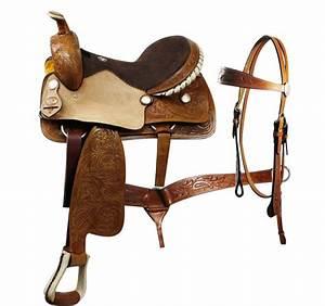 Western Pleasure Saddle Set Inlcudes Bridle & Breast ...
