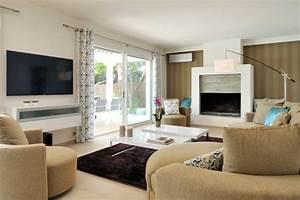 decoration d39une villa contemporaine ajaccio With decoration de salle de sejour