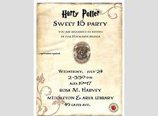 Harry Potter Sweet 16 at Rosa M Harvey Middleton & Area