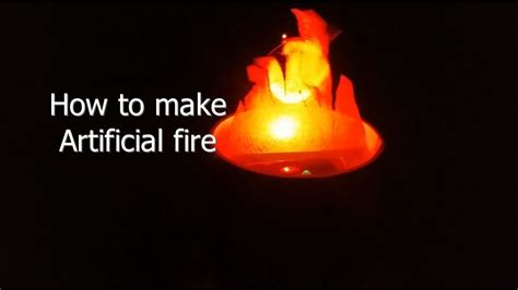 Artificial Flames For Fireplace - how to make artificial