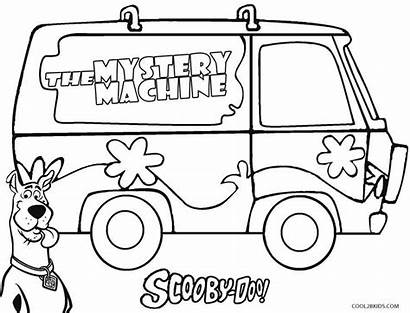 Scooby Doo Coloring Pages Mystery Machine Cool2bkids