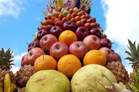 fruit decoration stock photo image  display shaped