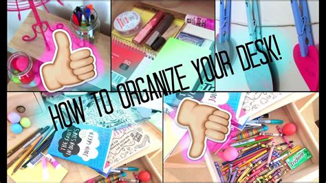 How To Organize Your Desk! Youtube