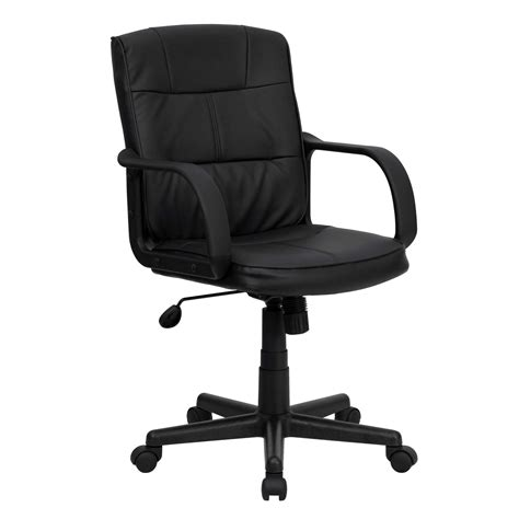 cool desk chairs dorado black leather office chair
