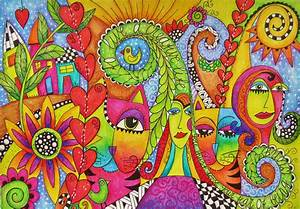 """Colorful doodle drawing 