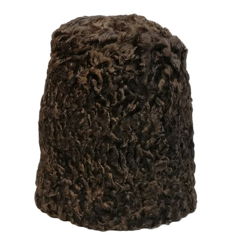 brown russian astrakhan fur shepherd hat