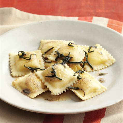 cheese ravioli  brown butter  sage