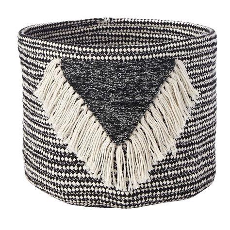 elements fringe basket dunelm tassel storage basket