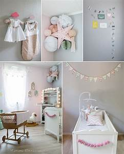 deco chambre bebe fille gris rose collection et chambre With decoration de chambre bebe