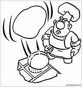 Pancake Coloring Pages Cooking Drawing Getdrawings sketch template